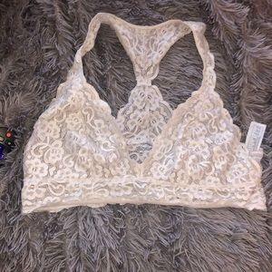 White Lace bralette XL